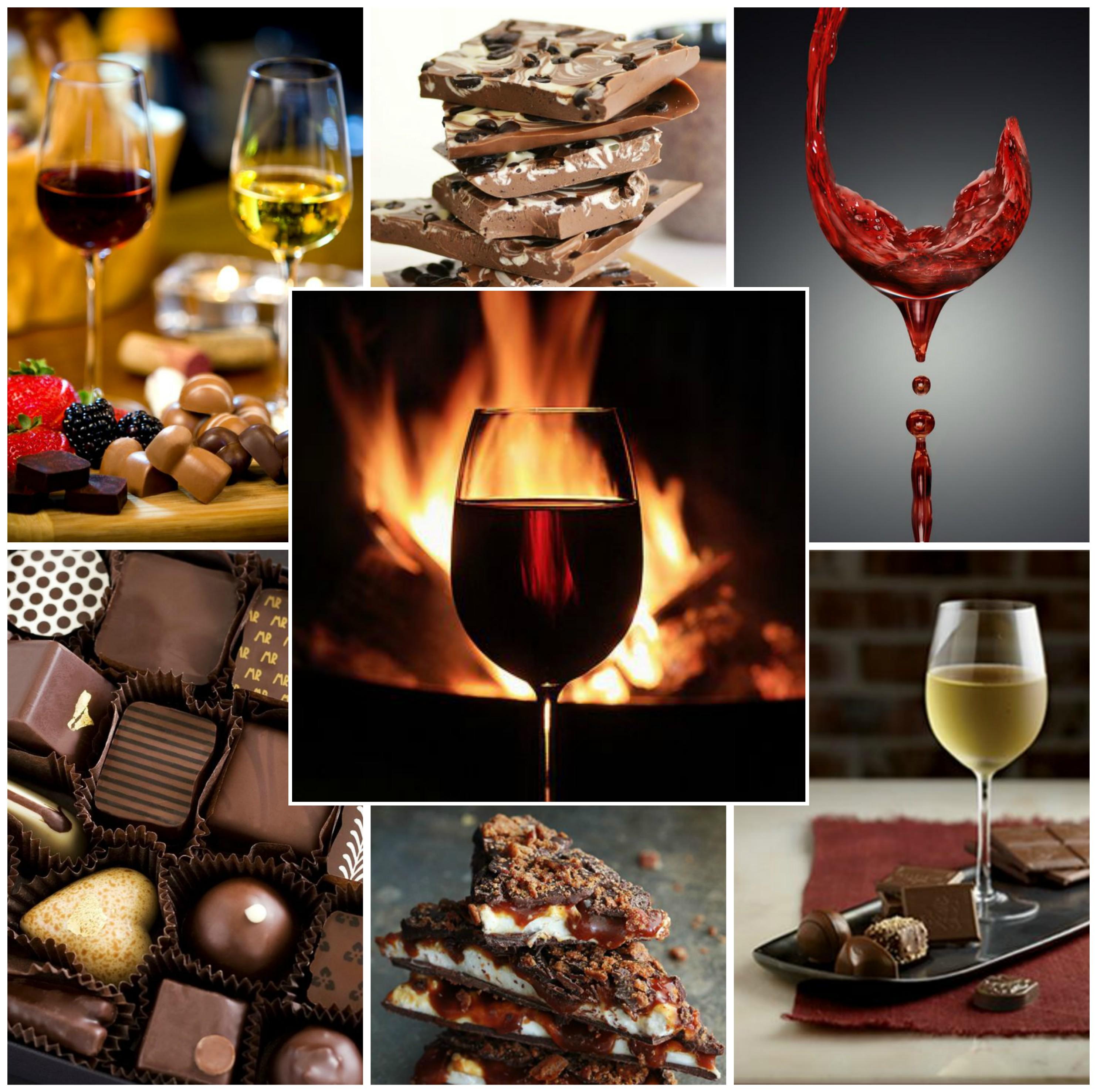 csokoládé és bor