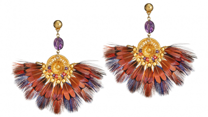 gas-bijoux-gaia-opulent-ohrringe-multi-coloured-gold-plated