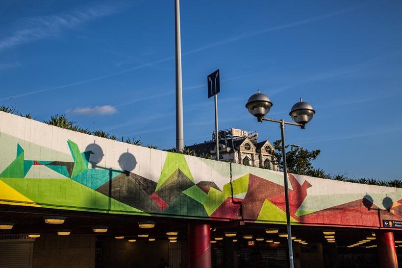 Boráros tér Színes Város falfestés