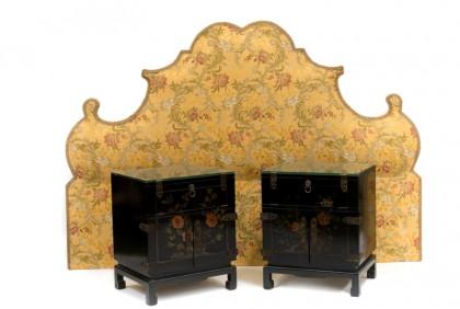 Tête de lit et chevets en laque provenant de la suite Coco Chanel, provenant du Ritz Paris © Artcurial